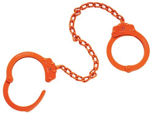 Peerless Handcuff Company, Fußfessel, Model 703O, Leg Iron – oranges finish
