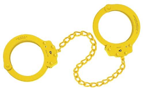 Peerless Handcuff Company, Fußfessel, Modell 703Y, gelbes finish